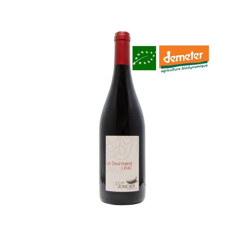 Lirac rouge « Le Gourmand » 2014 - vin biodynamie Vallée du Rhône sud - bas sulfites - vin naturel