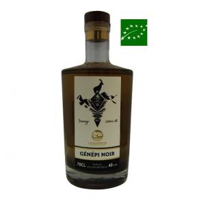 Carafe de Génépi noir sauvage de l'Ubaye 70 cl alcool bio - génépi bio - alcool d'exception - rare