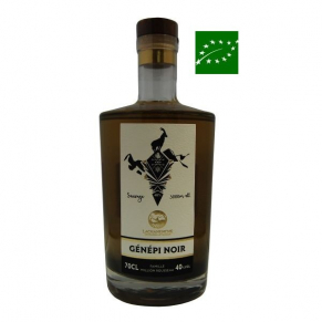 Carafe de Génépi noir sauvage de l'Ubaye 70 cl