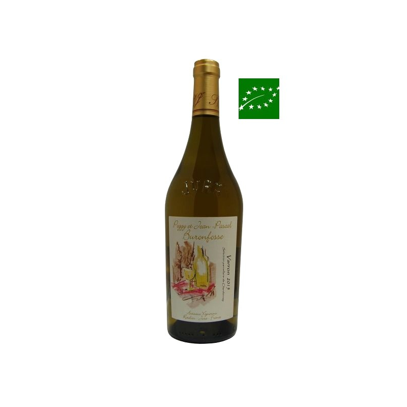 Côtes-du-Jura Varron Chardonnay 2015 vin bio du jura - bas sulfite
