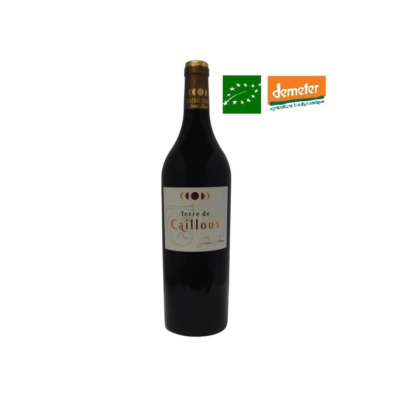 Bordeaux Supérieur « Terre de Cailloux » 2016 vin biodynamique bas sulfite
